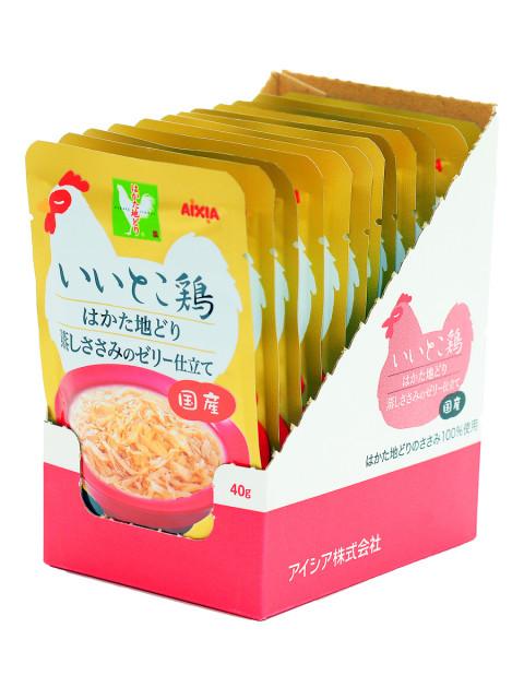 """Корм для кошек AIXIA """"Iitokotori"""", измельченное куриное филе в желе.пауч 40 г"""