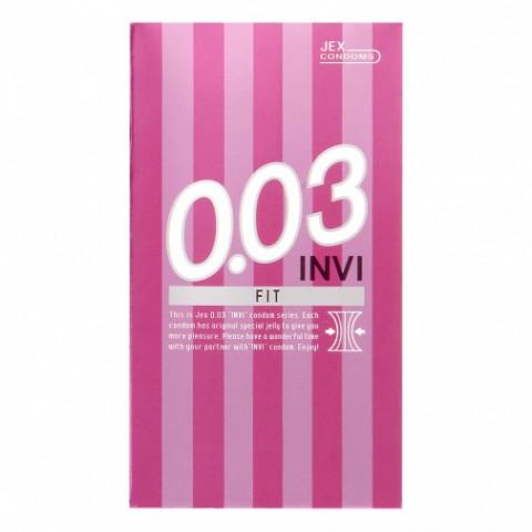 Ультратонкие презервативы с лубрикантом JEX 0.03 INVI Stamina, бесцветные 8 шт