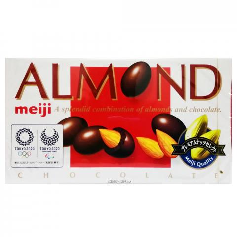 """Миндаль в молочном шоколаде Meiji """"Almond"""" коробка 88 г"""