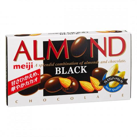 """Миндаль в темном шоколаде Meiji """"Almond"""" Black коробка 84 г"""