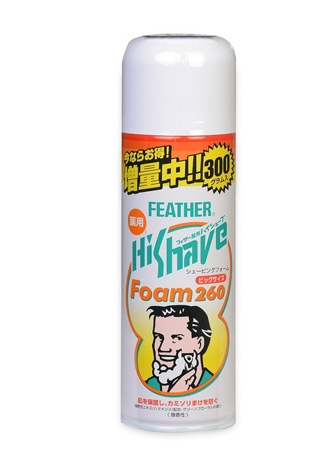 "Пена для бритья с экстрактом гамамелиса FEATHER ""HiShave"""