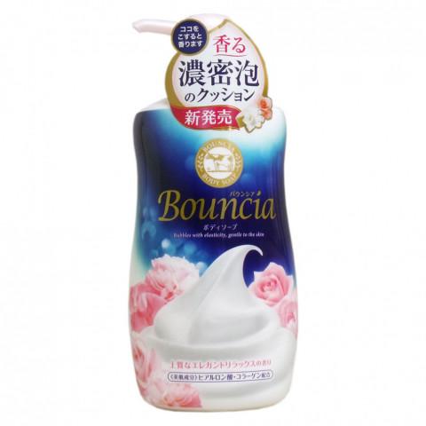 """Жидкое увлажняющее мыло для тела """"Взбитые сливки"""" с гиалуроновой кислотой и коллагеном COW BRAND """"Bouncia"""" элегантный цветочный аромат"""