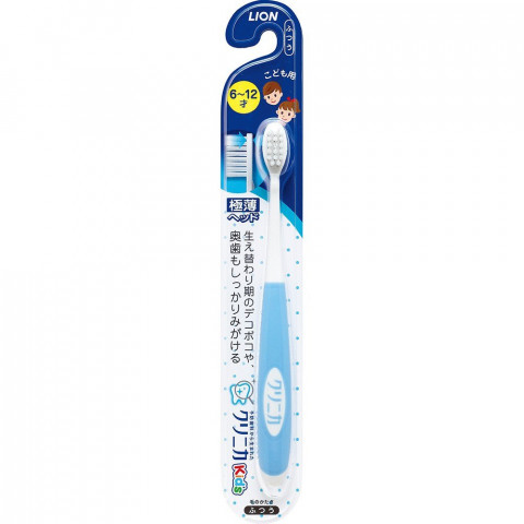 """Детская зубная щетка для детей от 6 ~ 12 лет в период смены зубов LION """"Clinica"""", средней жесткости"""