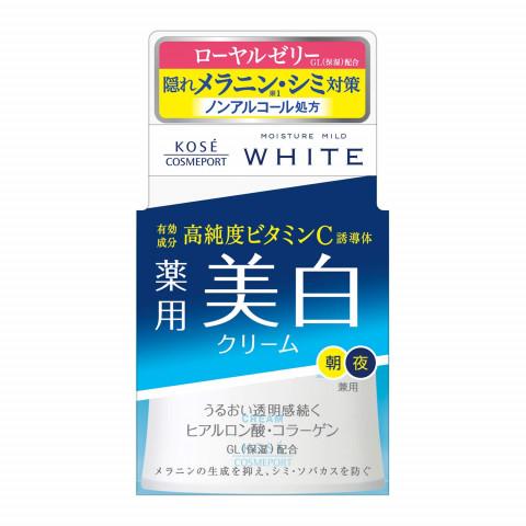 """Увлажняющий крем для лица против пигментных пятен с коллагеном, гиалуроновой кислотой и витамином С KOSE COSMEPORT """"Moisture Mild White"""""""