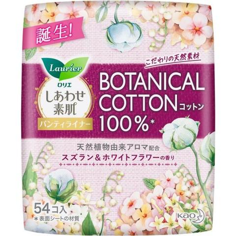Женские гигиенические прокладки на каждый день LAURIER F Botanical Cotton, c ароматом ландыша и жасмина , 54 шт