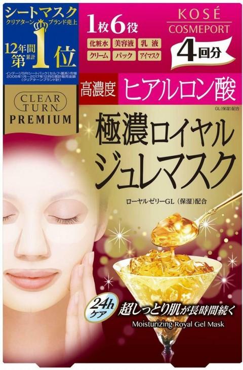 """Маска-желе с маточным молочком и высокой концентрацией гиалуроновой кислоты KOSE COSMEPORT """"Clear Turn"""" Premium"""
