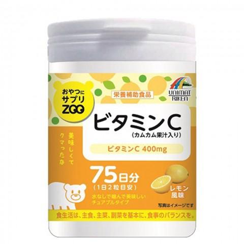 Unimat Riken Zoo Жевательный натуральный витамин С со вкусом лимона для укрепления иммунитета